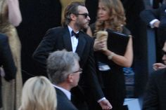 Joaquin thought he was invisible in those dark glasses on the Red Carpet.  2013.