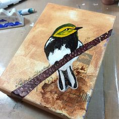 It's small simple and done!  #art #birds #painting #nature #wildlife