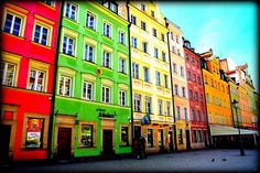 #buildings colorful buildings at the Wroclaw market square