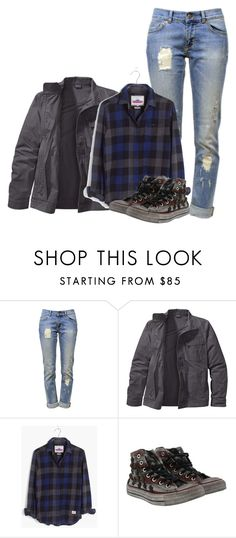 """""""Sam Winchester"""" by inspiredoutfitsfandoms on Polyvore featuring mode, Anine Bing, Patagonia, Madewell et Converse"""