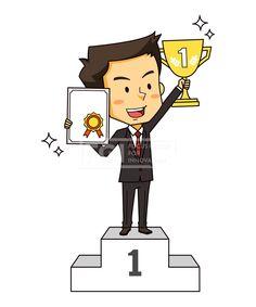 SILL201, 산업캐릭터, 직업, 산업, 캐릭터, 벡터, 에프지아이, 사람, 1인, 서있는, 남자, 비즈니스, 트로피, 상장, 우수, 성장, 일러스트, illust, illustration #유토이미지 #프리진 #utoimage #freegine 19913254