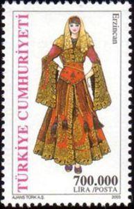 2003 Turquia-Traje Tradicional de mujer de la Provincia de Erzincan