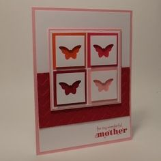 Paper crafts and card idea using Stampin' Up! Delightful Dozen stamp set and Bitty Butterfly Punch. by rosanne