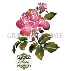 Stencil G 21x29.7 cm Rosa clásica