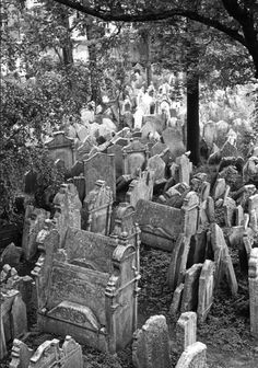 Old Jewish Cemetery, Prague Uncredited and Undated Photograph