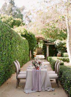 Linen rentals: http://latavolalinen.com | Florist: http://www.laurasfloras.com | Wedding dress: http://www.bhldn.com | Wedding photographers: http://www.jessicakay.com/ | Read More: https://www.stylemepretty.com/vault/image/6202589