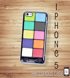 iPhone 5 Case Eye shadow / Hard Case For iPhone 5 Rainbow Makeup. .