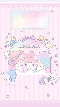 Little Twin Stars, My Melody My Melody Wallpaper, Sanrio Wallpaper, Star Wallpaper, Hello Kitty Wallpaper, Kawaii Wallpaper, Wallpaper Iphone Cute, Disney Wallpaper, Cute Wallpapers, Pink Wallpaper