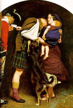 el primer cuadro en el que Effie posó para Millais, The order of release