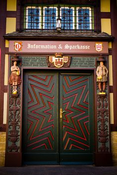 Star Door on Wernigerode Rathaus (Town Hall in Germany)