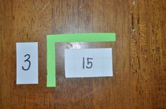 Multiplication array cards to understand mult., div., square roots