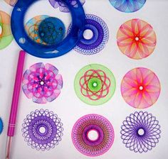 1000 images about spirographs on pinterest clock ideas pen drawings and toys - Spirograph clock ...