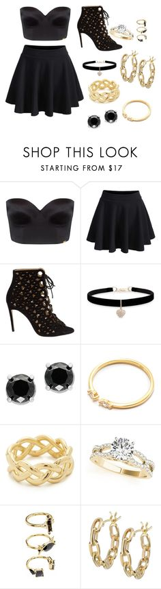 """""""out all night"""" by nyasortor on Polyvore featuring Ultimo, WithChic, Bionda Castana, Betsey Johnson, Effy Jewelry, Soave Oro, Noir Jewelry and TILDA BIEHN"""