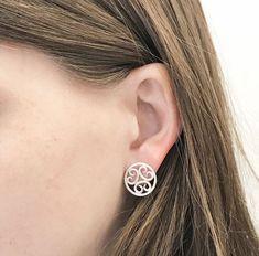 Boho Earrings, Silver Earrings, Boho Silver Earrings, Boho Chic Earrings, Round Stud Earrings, Filigree Earrings, Silver Filigree Jewelry #etsy #jewelry #earrings #bohoearrings #silverearrings #bohosilverearrings #bohochicearrings #roundstudearrings #filigreeearrings #silverfiligree