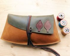 Leather Fairytale large clutch Purse Bag ISOLDE 2848 by Faerysteps