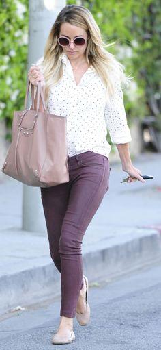 When it comes to style, @Lauren Davison Dailey-Conrad.com is the anti-tomboy #pinkbalenciaga #chloeflats