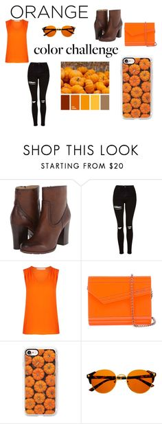 """""""Pumpkins! Yay!"""" by livia-dai ❤ liked on Polyvore featuring Frye, Topshop, Diane Von Furstenberg, Jimmy Choo, Casetify, orangeandblack and colorchallenge"""