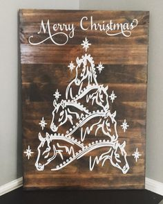 Christmas • Horse • Horse Lover • Barn • Farmhouse • Merry Christmas • Horse Christmas, Christmas Horse Christmas Tree • Shabby Chic