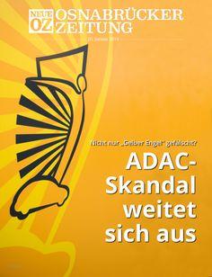"""Wurde nicht nur der """"Gelbe Engel"""" gefälscht?  Der Skandal um den ADAC könnte sich ausweiten. Lesen Sie mehr in der iPad-Abendausgabe vom 20. Januar 2014."""