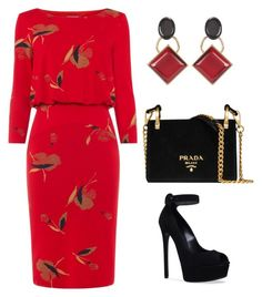 """Untitled #784"" by mchlap on Polyvore featuring Phase Eight, Marni, Casadei and Prada"
