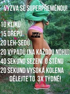 eMimino.cz - Detail fotky Body Fitness, Health Fitness, Gym Workouts, At Home Workouts, Tabata Training, Slim And Fit, Gym Food, Yoga Routine, Excercise