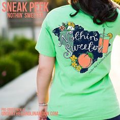 Nothin' Sweeter than this  Just Peachy T-shirt from underthecarolinamoon.com