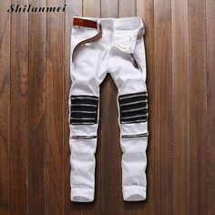2017 New Slim Fit Casual Pencil Pants Men Summer Zipper Fashion Spring Cotton Trouser Male White Straight Korean Style Man Red