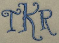 Squiggles Embroidery Font.