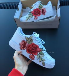 Nike Air Embroidery Force 1 Flowerbomb Flower Embroidery Air Custom Af1 6424b5