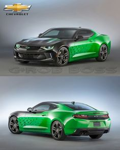 2016 Chevy Camaro Krypton Concept Green At SEMA Camaro Concept, Concept Cars, Car In The World, Chevy Camaro, Car Ins, Supercars, Automobile, Engineering, Vehicles
