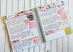 Memory Journal spread by Kimberly Lund using Illustrated Faith products