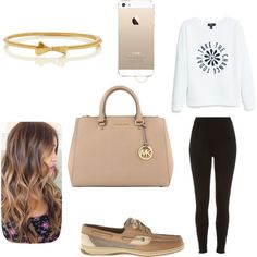 Untitled #19 by millie-huerta on Polyvore featuring polyvore fashion style MANGO River Island Sperry Top-Sider MICHAEL Michael Kors Kate Spade