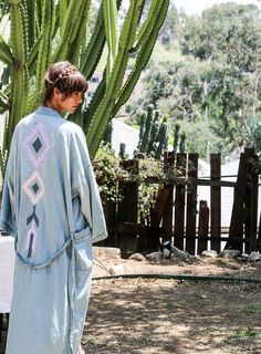 The denim kimono. Bliss and Mischief x NSF Women's Spring 2016 Collection | photography by Jayne Min of Stop It Right Now #BAMxNSF