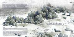 "eVolo 2016 Honorable Mention  Project by: Abolhassan Karimi, Amir Khosravi, Soudabeh Abbasi Azar, Shima Khoshpasand, Fatemeh Salehi Amiri, Maryam Nademi, Neshat Mirhadizadi  IRAN ""Land-Escape"""