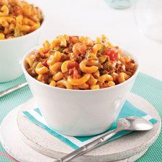 Macaronis crémeux au boeuf - Soupers de semaine - Recettes 5-15 - Recettes express 5/15 - Pratico Pratique