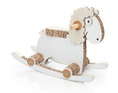 Diseño de caballo juguete de madera moderna para niños
