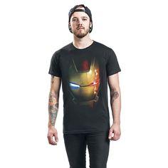"Classica T-Shirt uomo nera ""Ultron Virus"" di #IronMan."