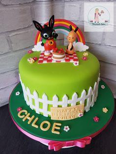 Cute little girls Bing birthday cake Bunny Birthday Cake, Second Birthday Cakes, Bing Cake, Bing Bunny, Novelty Cakes, Girl Cakes, Celebration Cakes, Christmas Baking, Themed Cakes