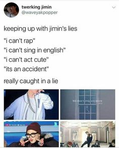 Caught in a lie - song by Jimin BTS look it up Kookie Bts, Bts Bangtan Boy, Bts Memes Hilarious, Les Bts, Bts Tweet, About Bts, I Love Bts, Bts Boys, Kpop Groups