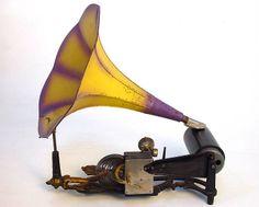 The Mermaid cylinder gramophone, circa 1903. A superb Art Nouveau creation