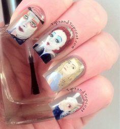 Tips and Topcoat: Alice In Wonderland  #nail #nails #nailart