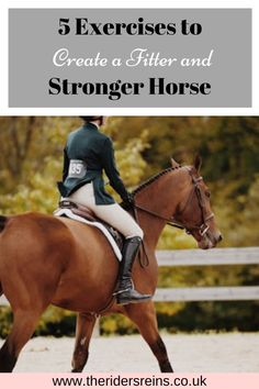 Sometimes we ride our horses 5-7 days a week and yet they do not look or act fit. Here are the 5 exercises I use to help my horse get fit, not only for ridden work but also for decreased chance of injuries. Equestrian Boots, Equestrian Outfits, Equestrian Style, Equestrian Fashion, Equestrian Problems, Dressage, Horse Riding Tips, Horse Tips, Horse Exercises
