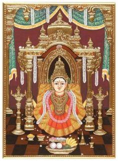 Varalakshmi Tanjore Painting