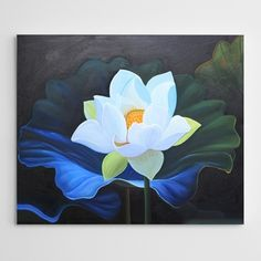 Flower Painting Canvas, Painting & Drawing, Lotus Painting, Water Lilies, Feng Shui, Wind Chimes, Amazing Art, Drawings, Nature