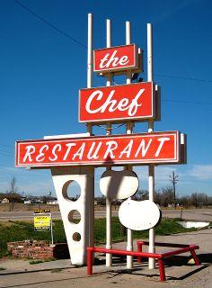 The Chef Restaurant, Scottsbluff, NE Vintage Signs, Neon Signs, Restaurant, Diner Restaurant, Restaurants, Dining