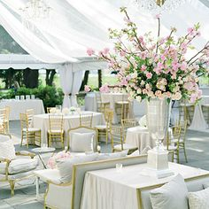decoración del salón pink flowers, wedding receptions, charleston sc, tent, reception seating, clubhouses, blossoms, georgia peach, charleston south carolina