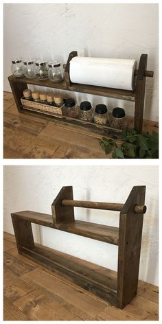 bedside table for spices and paper towels