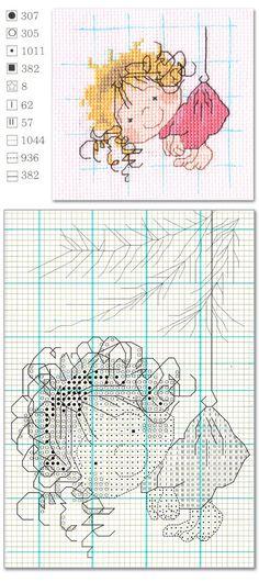 cross stitch cute girl | Welcome Craft