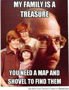 Creepy dad is creepy. -