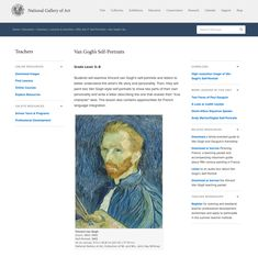Van Gogh's Self-Portraits Lesson Plan for - Grade Van Gogh Self Portrait, Team Teaching, Back To School Night, Guided Practice, Instructional Strategies, Art Curriculum, National Gallery Of Art, Dutch Painters, Artist Life